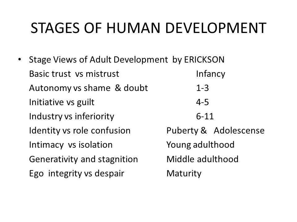 8 stages of human development pdf