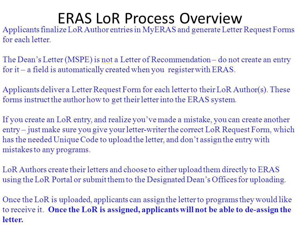 ERAS (Electronic Residency Application Service)   ppt download