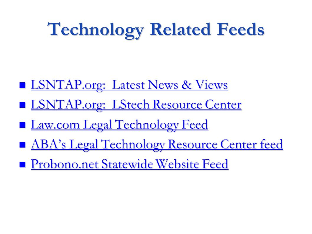 Technology Related Feeds
