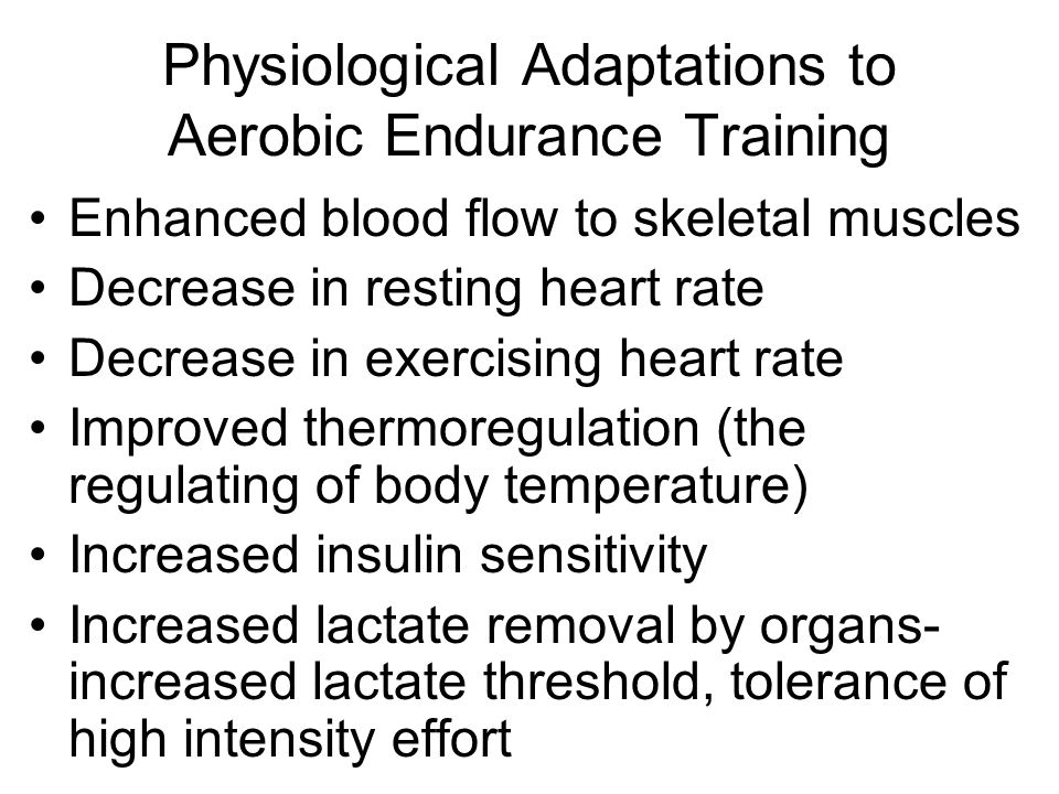 physiological adaptations to aerobic training