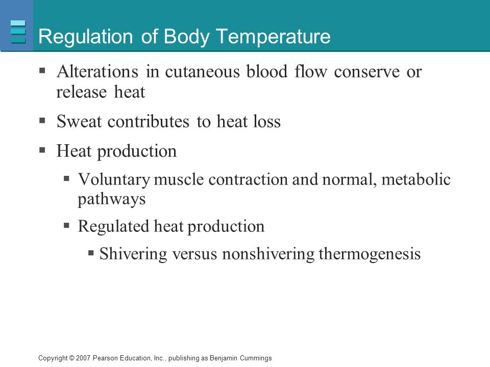 Regulation of Body Temperature