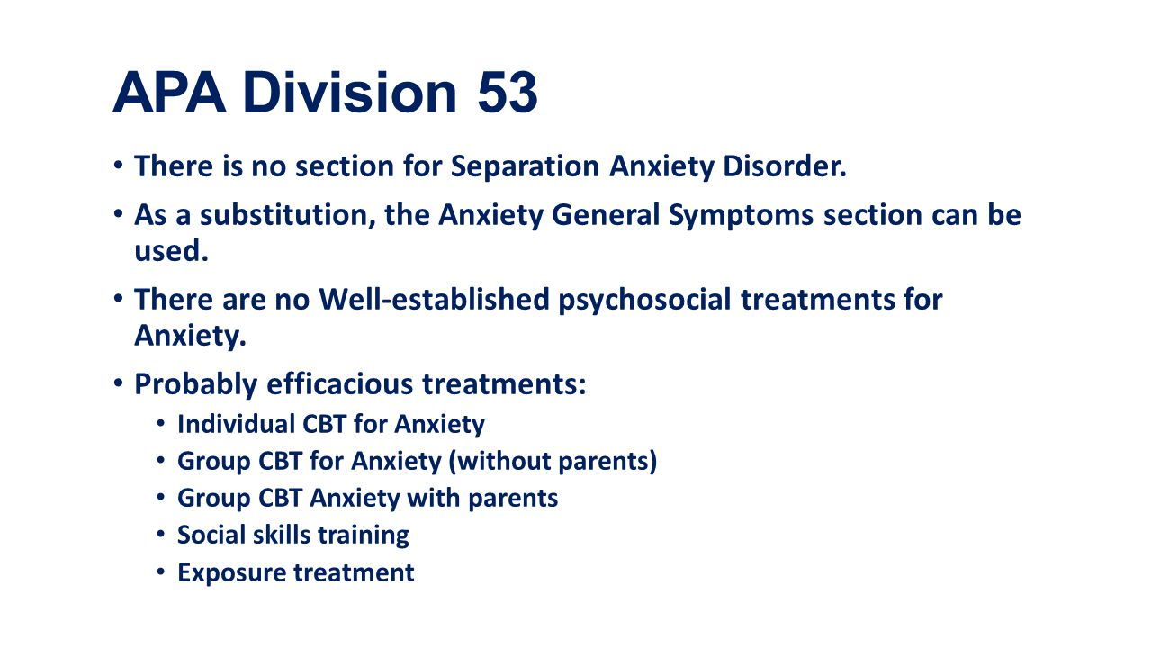 separation anxiety disorder - ppt download