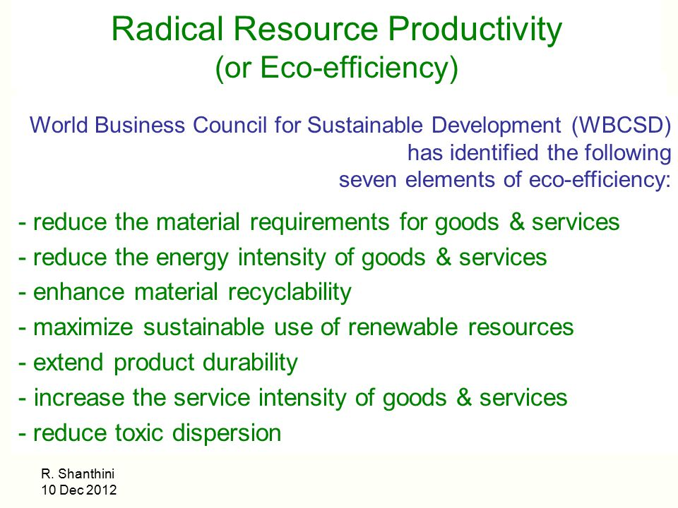 Radical Resource Productivity