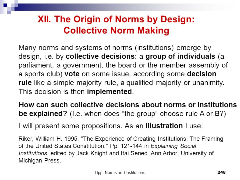 XII. The Origin of Norms by Design: Collective Norm Making