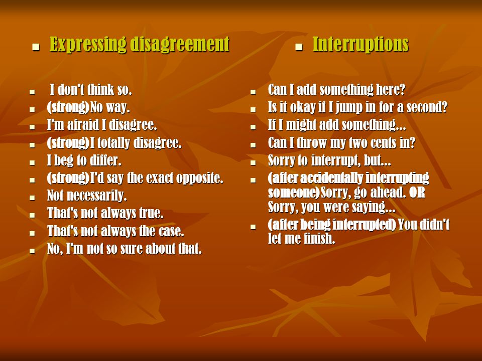Expressions For Agreeing And Disagreeing Ppt Video Online Download