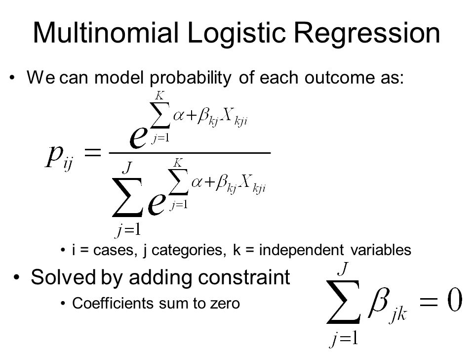 Multinomial Logit Sociology 229: Advanced Regression - ppt