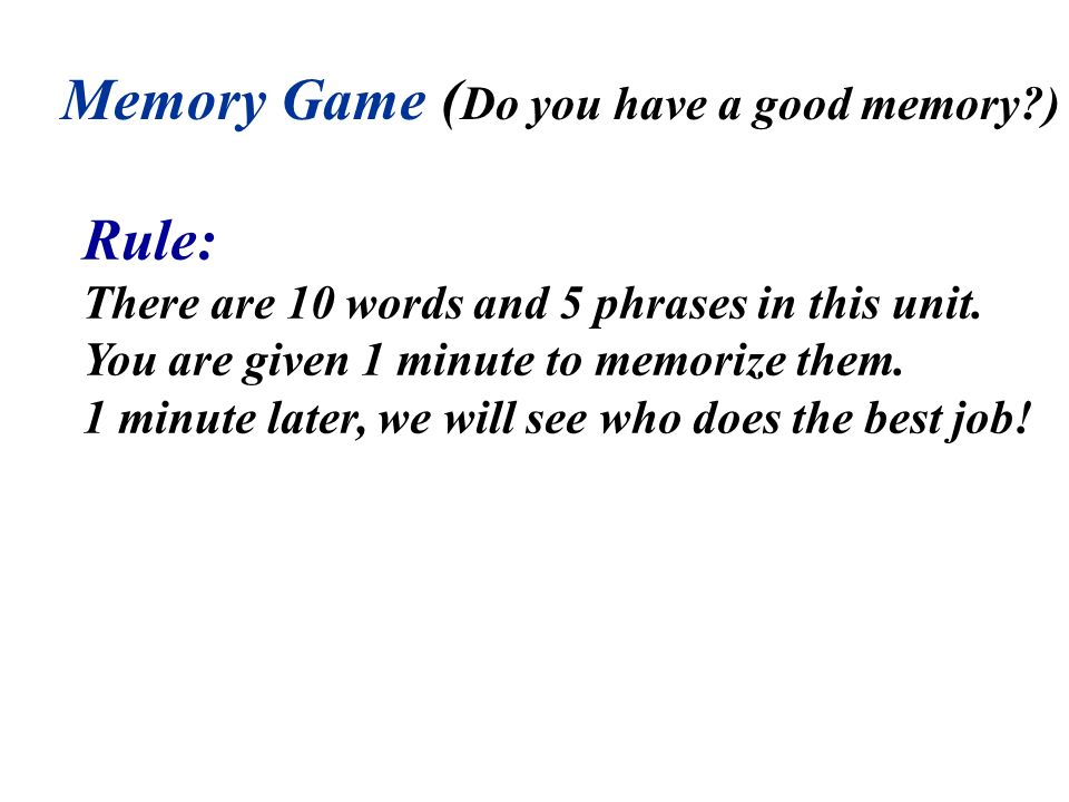 Memory Game (Do you have a good memory )