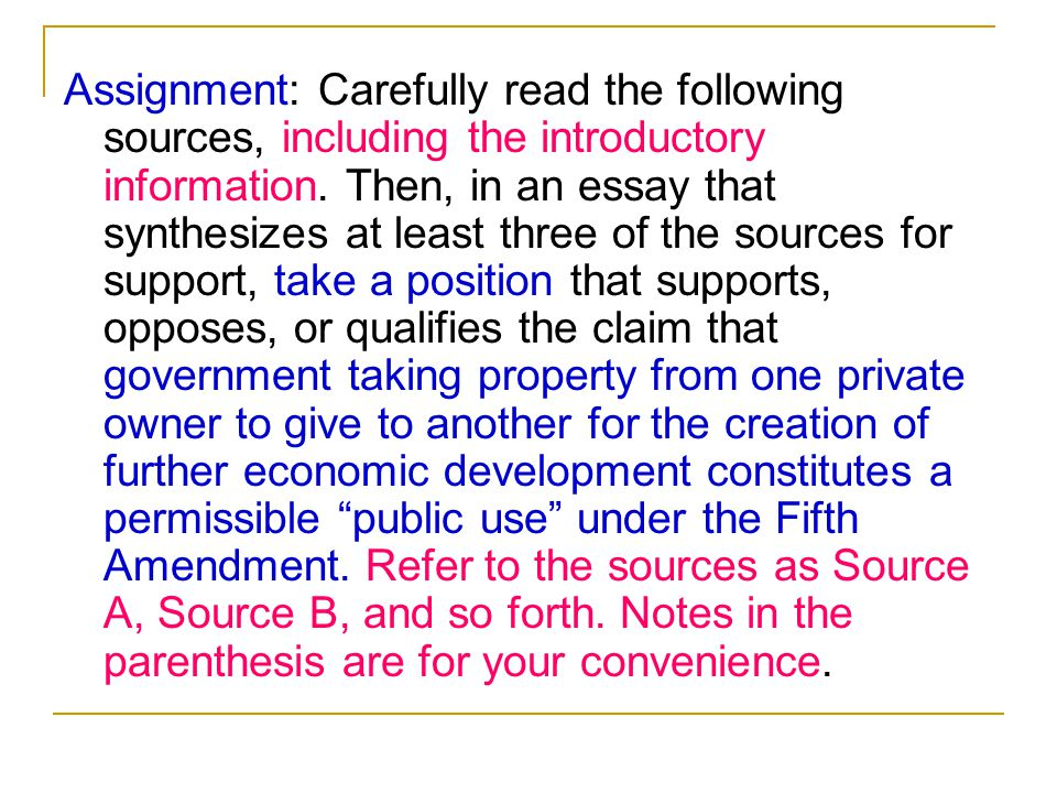 Assignment: Carefully read the following sources, including the introductory information.