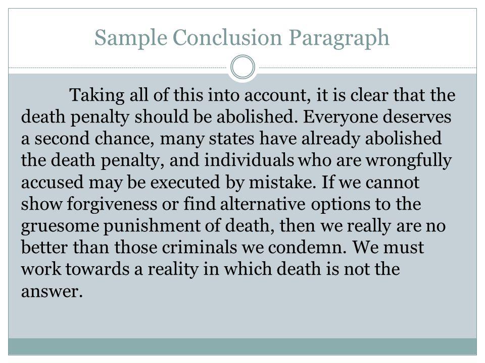 death penalty conclusion paragraph