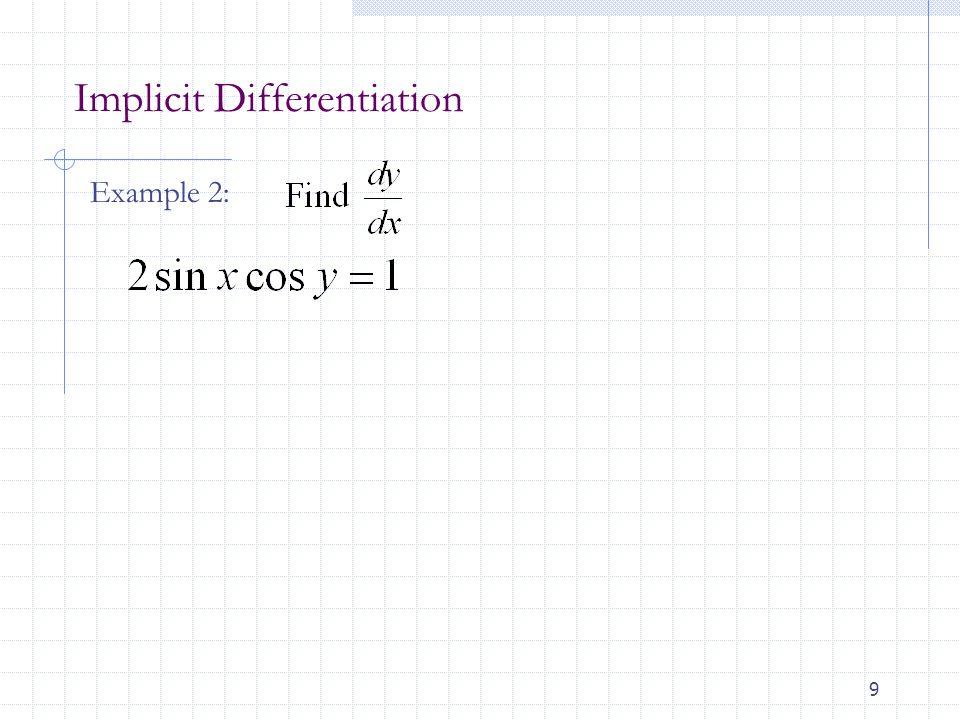 Implicit Differentiation Ppt Download