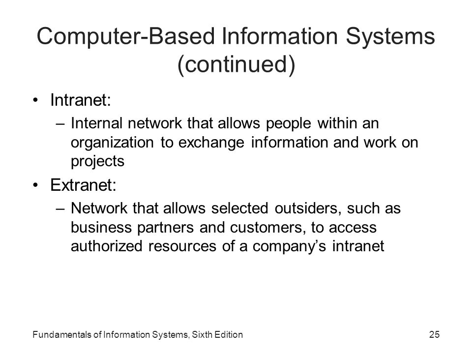 Computer-Based Information Systems (continued)