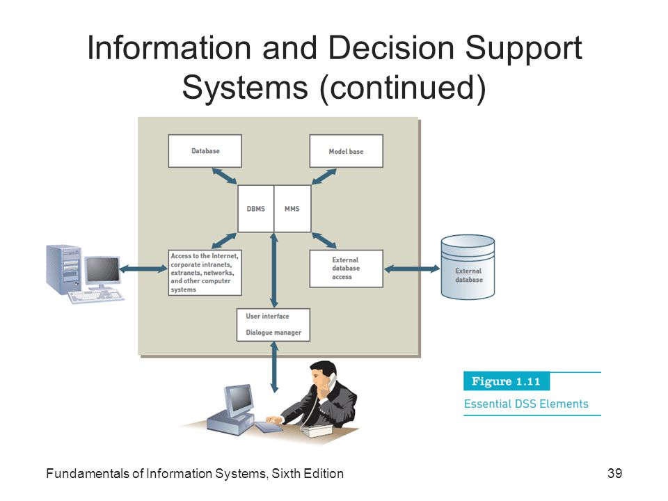 Information and Decision Support Systems (continued)
