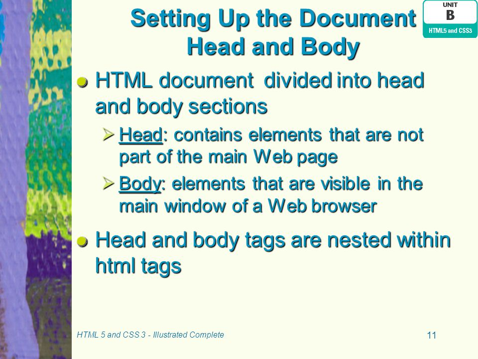 Setting Up the Document Head and Body