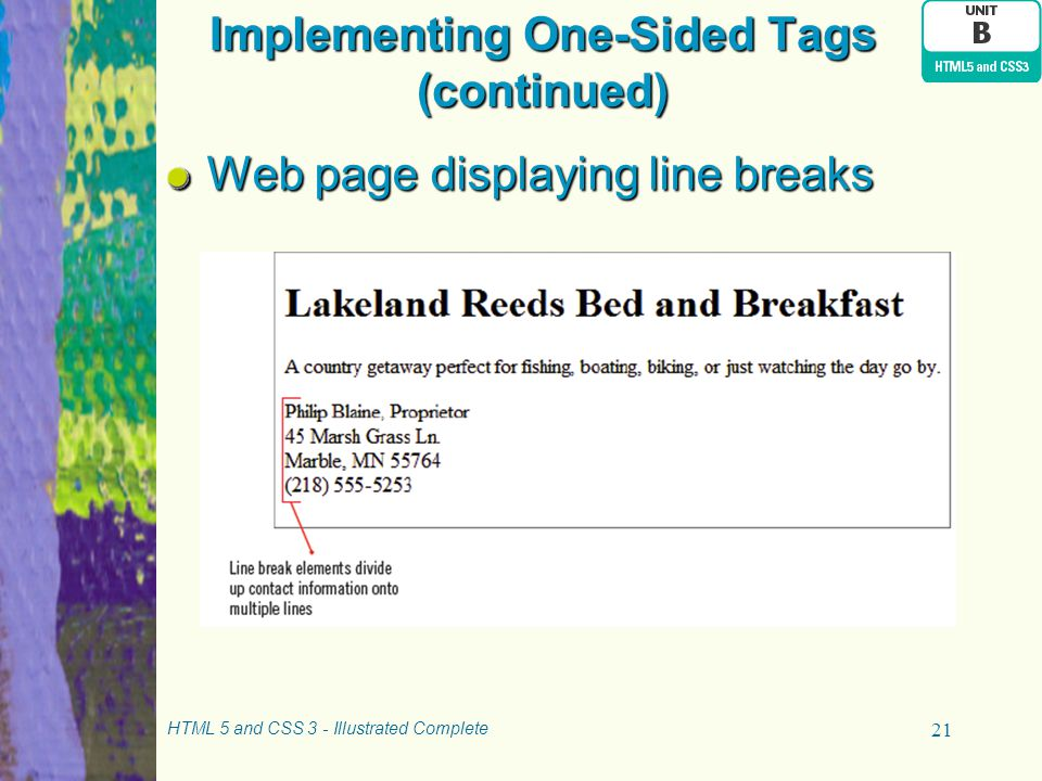 Implementing One-Sided Tags (continued)