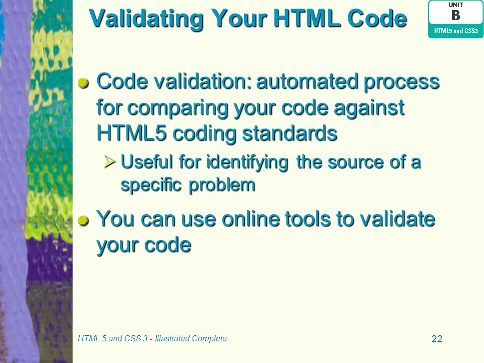 Validating Your HTML Code