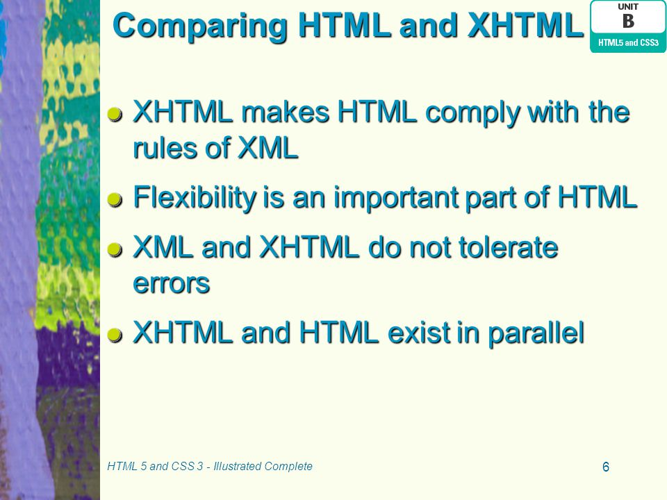 Comparing HTML and XHTML