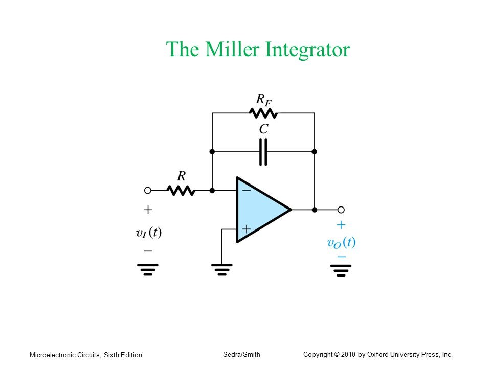 The Miller Integrator Microelectronic Circuits, Sixth Edition