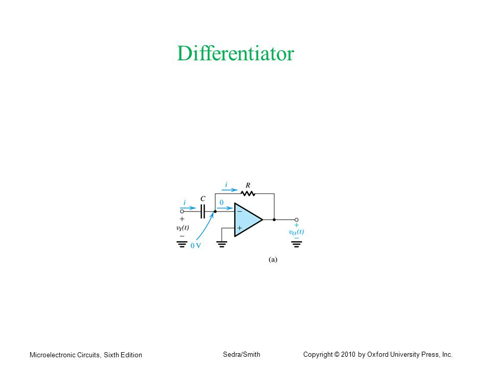 Differentiator Microelectronic Circuits, Sixth Edition