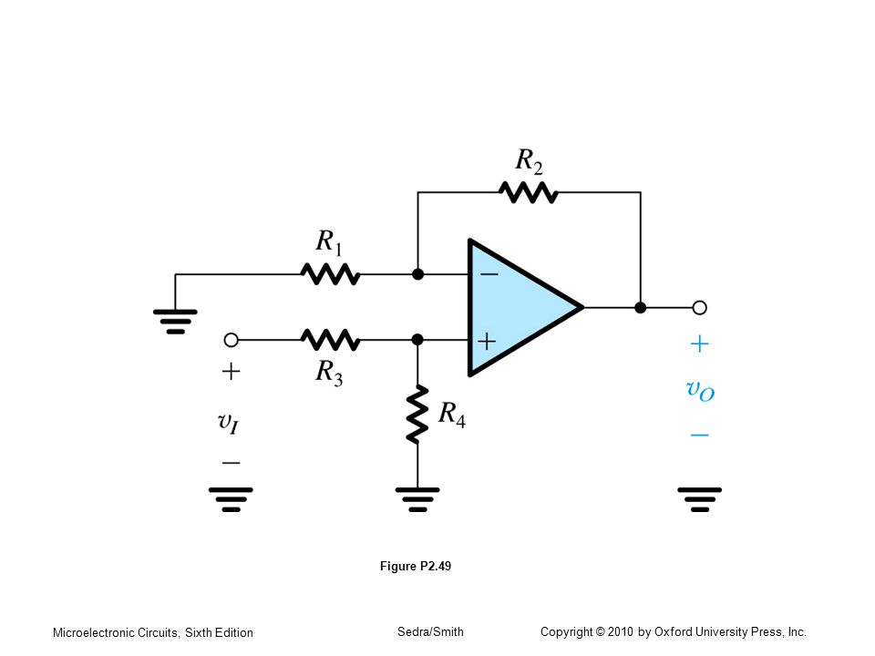 Figure P2.49 Microelectronic Circuits, Sixth Edition.