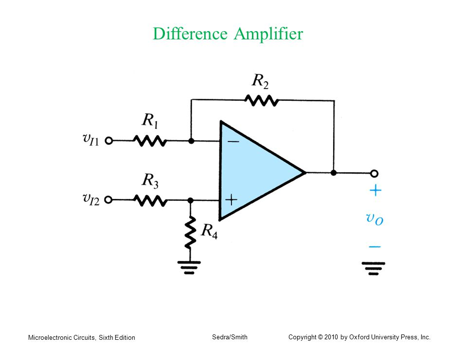 Difference Amplifier Microelectronic Circuits, Sixth Edition