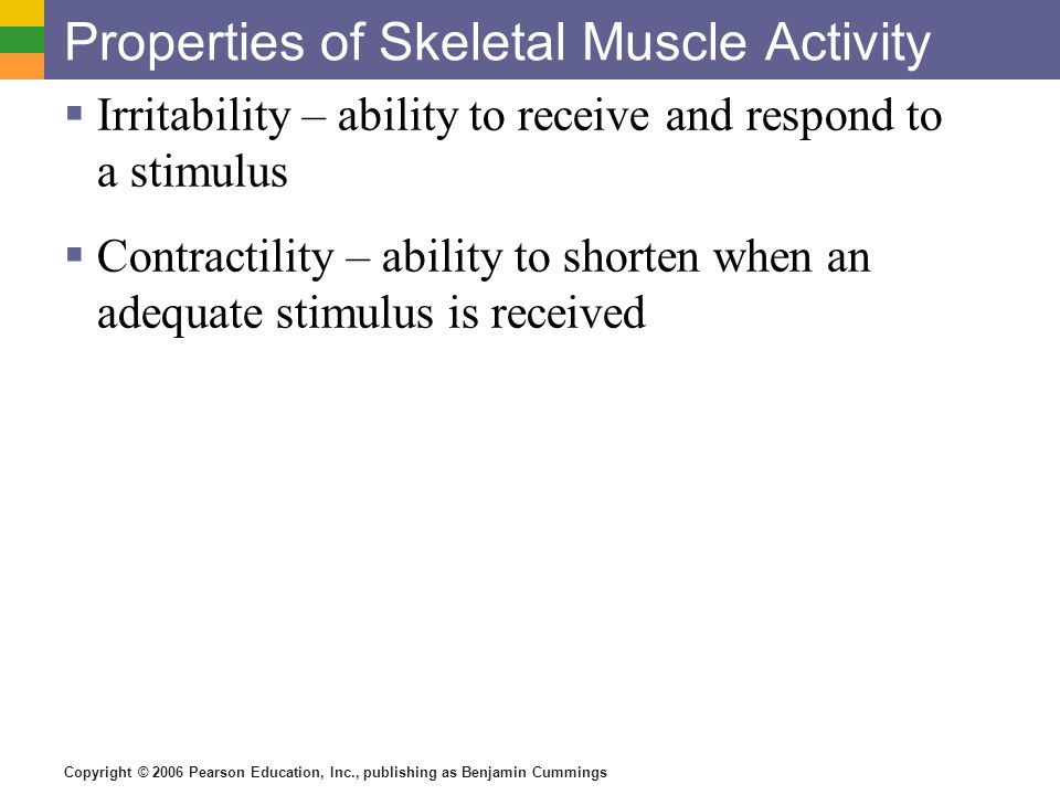 properties of skeletal muscle pdf