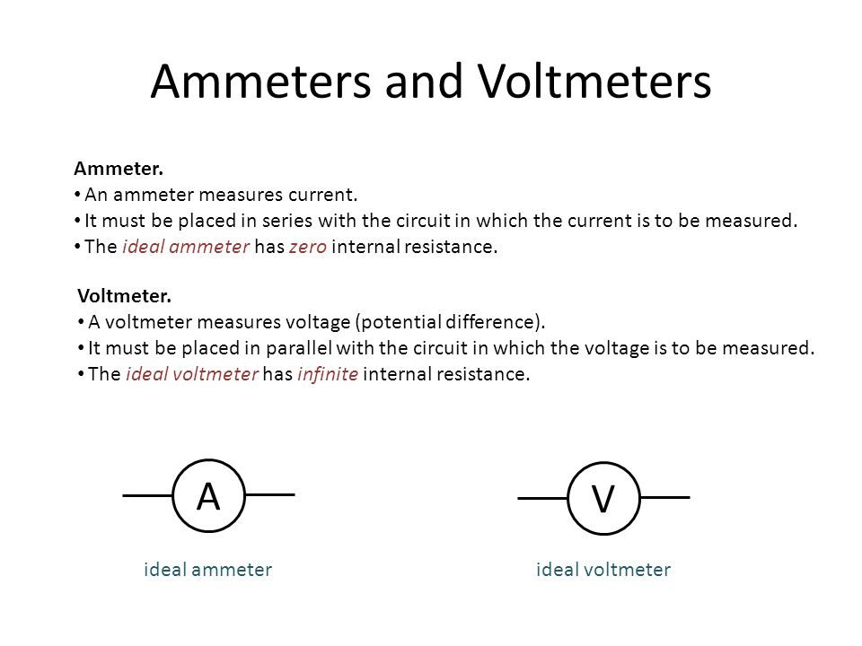 Ideal Voltmeter Schematic Search For Wiring Diagrams