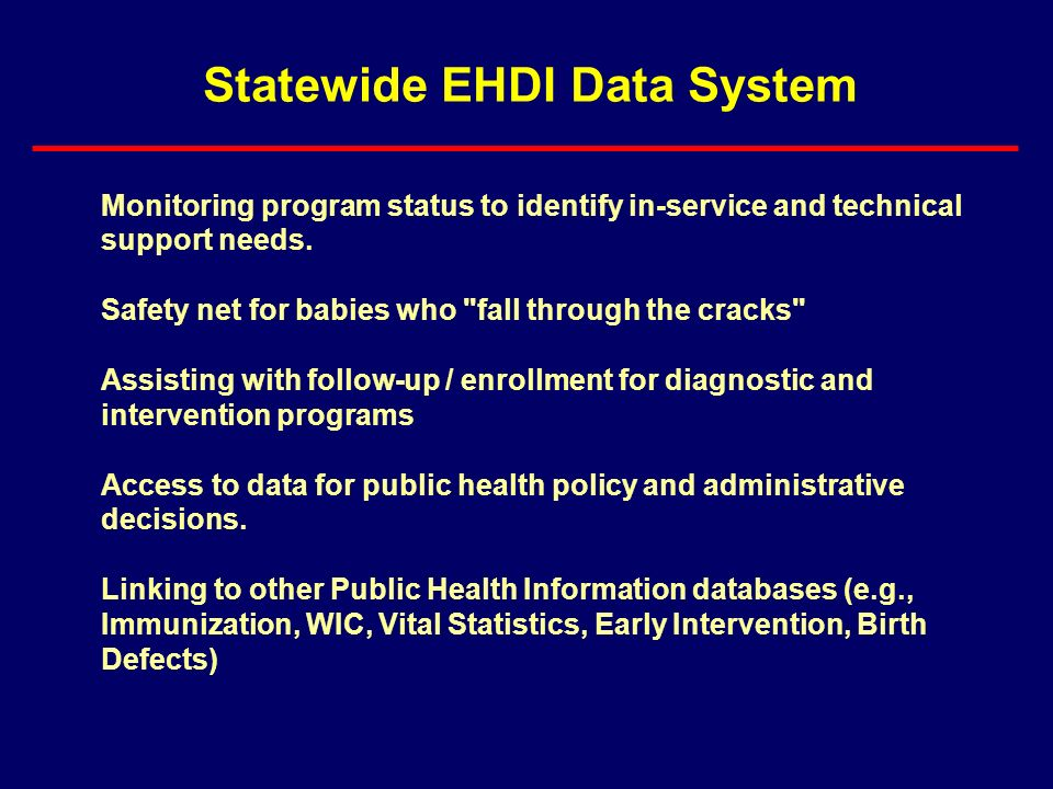 Statewide EHDI Data System