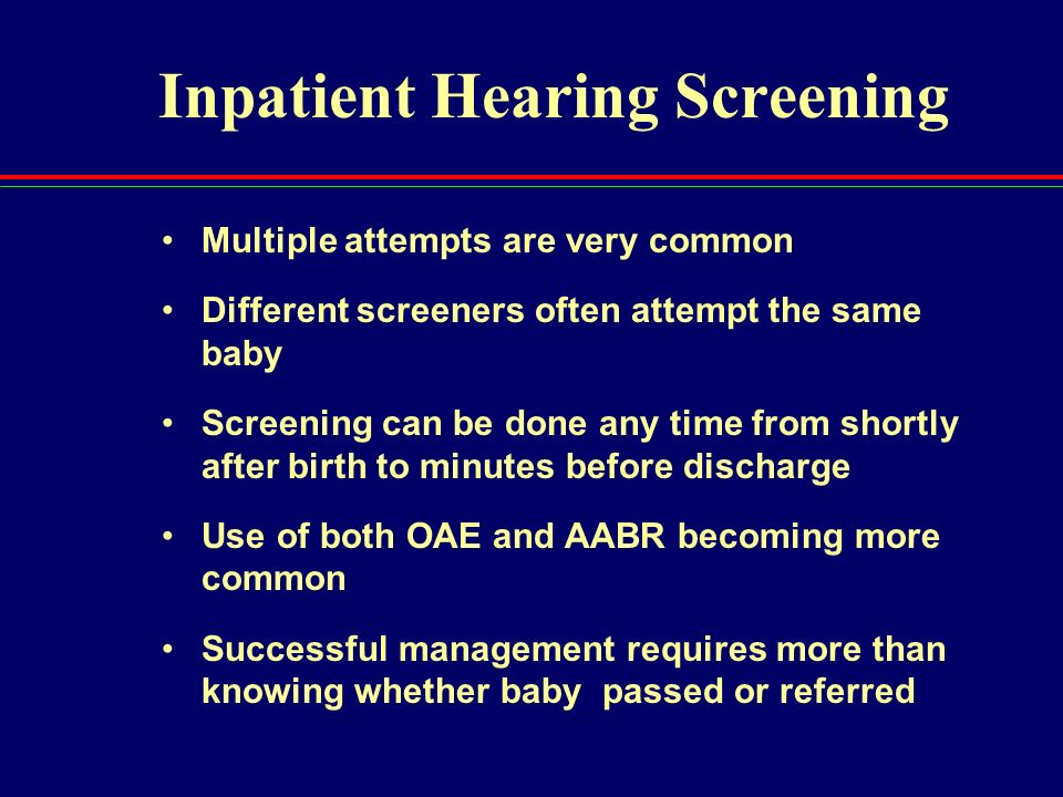 Inpatient Hearing Screening