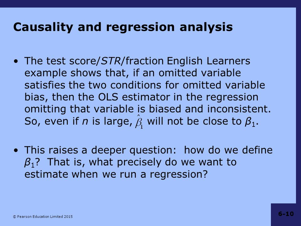 Causality and regression analysis