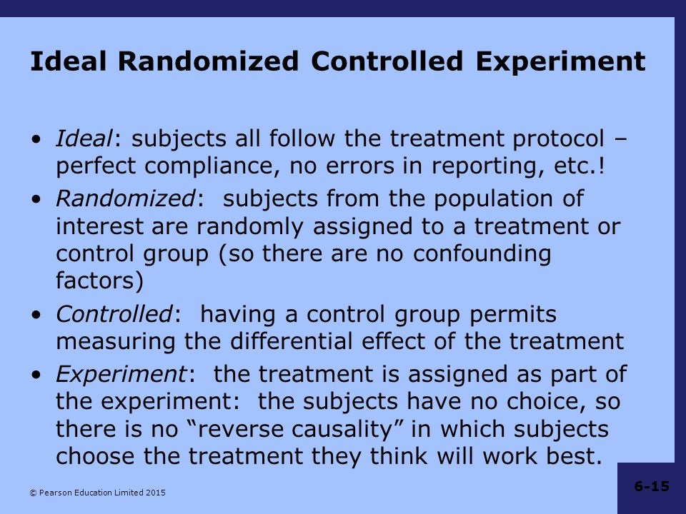 Ideal Randomized Controlled Experiment