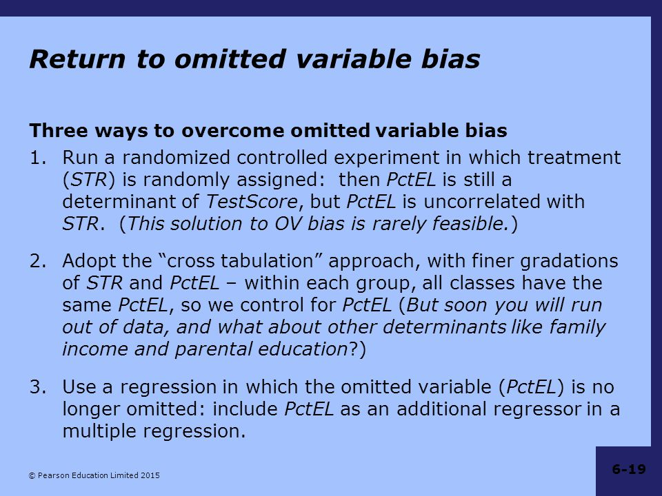 Return to omitted variable bias