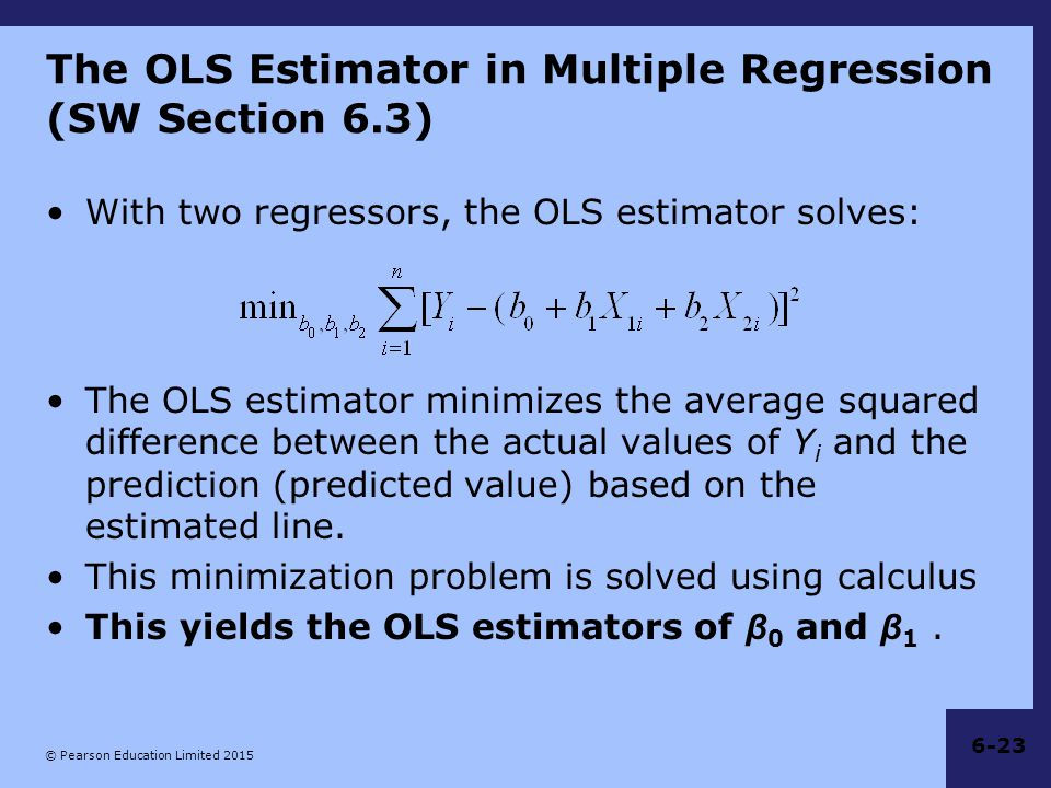 The OLS Estimator in Multiple Regression (SW Section 6.3)