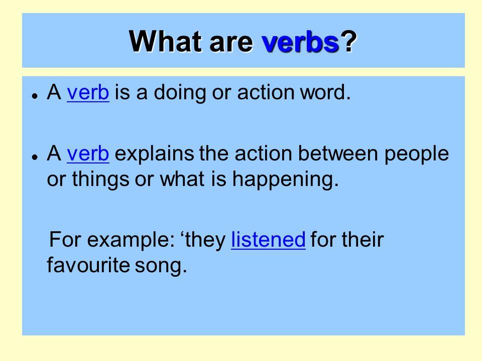 Verbs – starter activity - ppt video online download