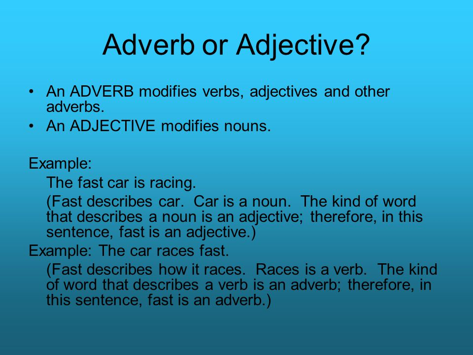 Adverbs Grade Seven Ppt Video Online Download