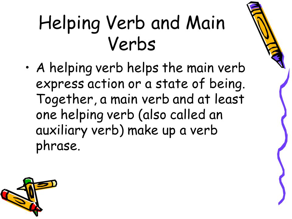 Helping Verb and Main Verbs