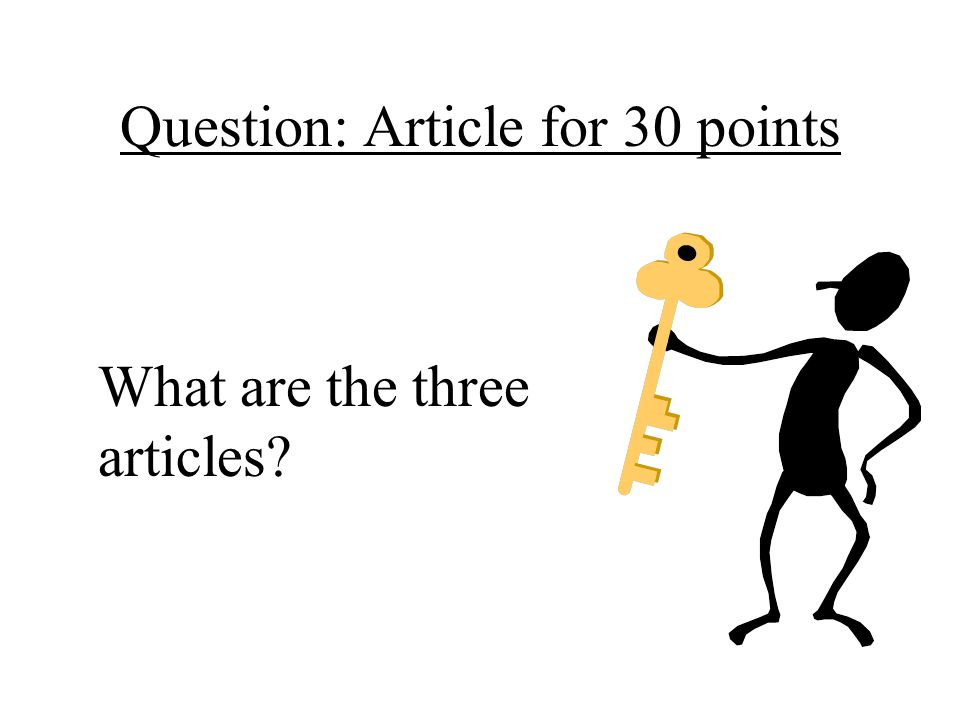Question: Article for 30 points