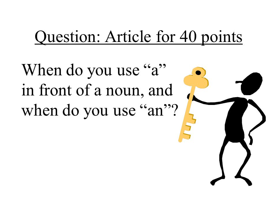 Question: Article for 40 points