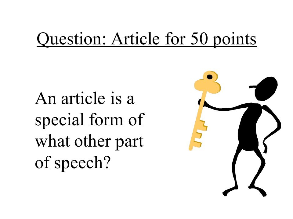 Question: Article for 50 points