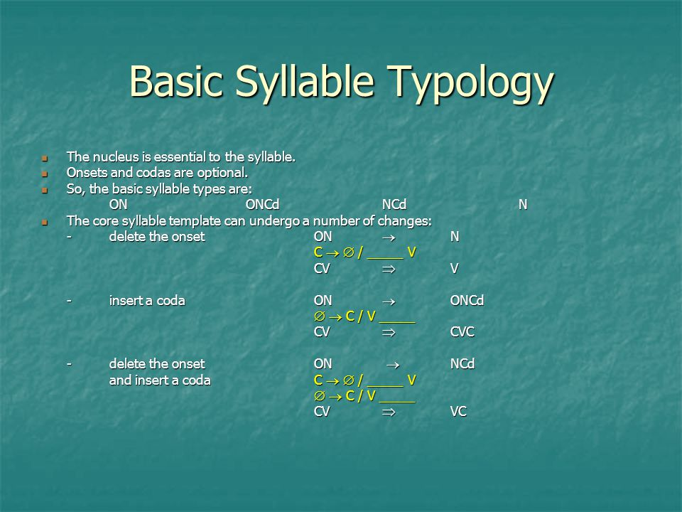 Lecture 4 The Syllable. - ppt video online download
