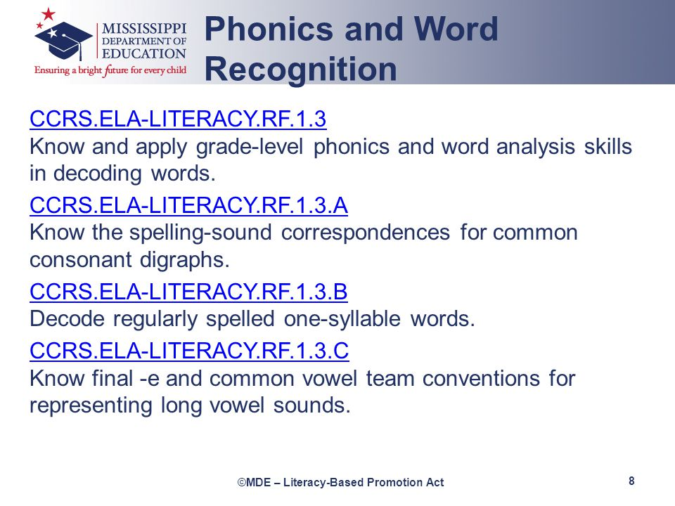 Phonics and Word Recognition