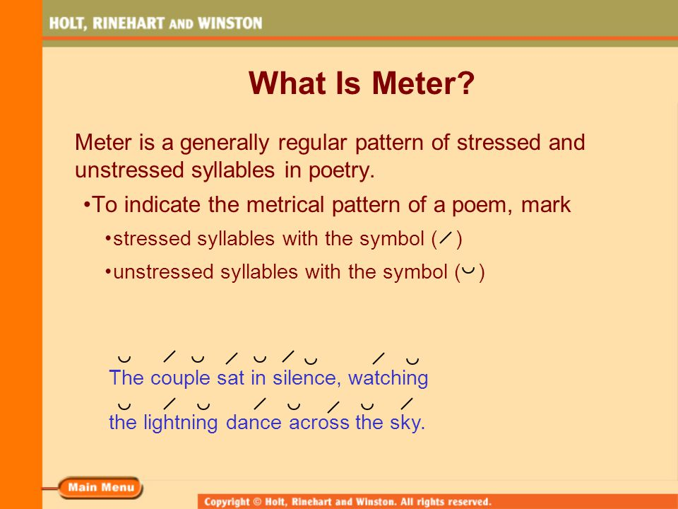 Rhythm And Meter In Poetry Ppt Video Online Download
