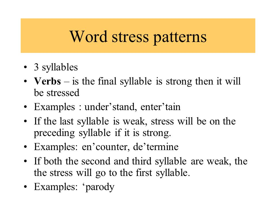 Lexical stress ☆ linguistics lecture youtube.