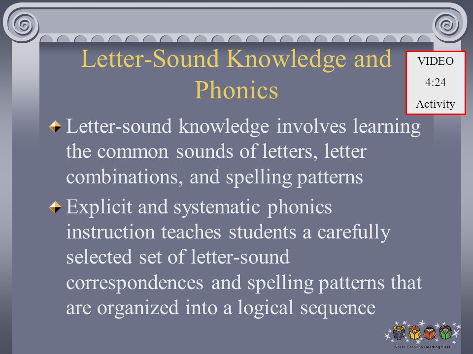 Letter-Sound Knowledge and Phonics