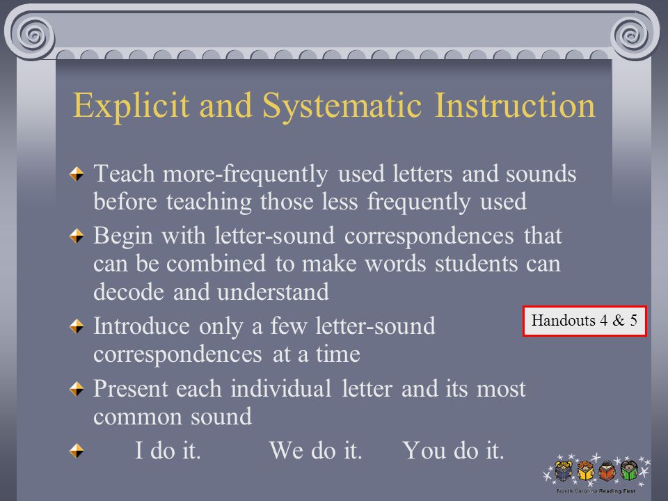 Explicit and Systematic Instruction