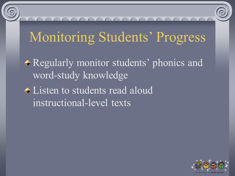 Monitoring Students' Progress