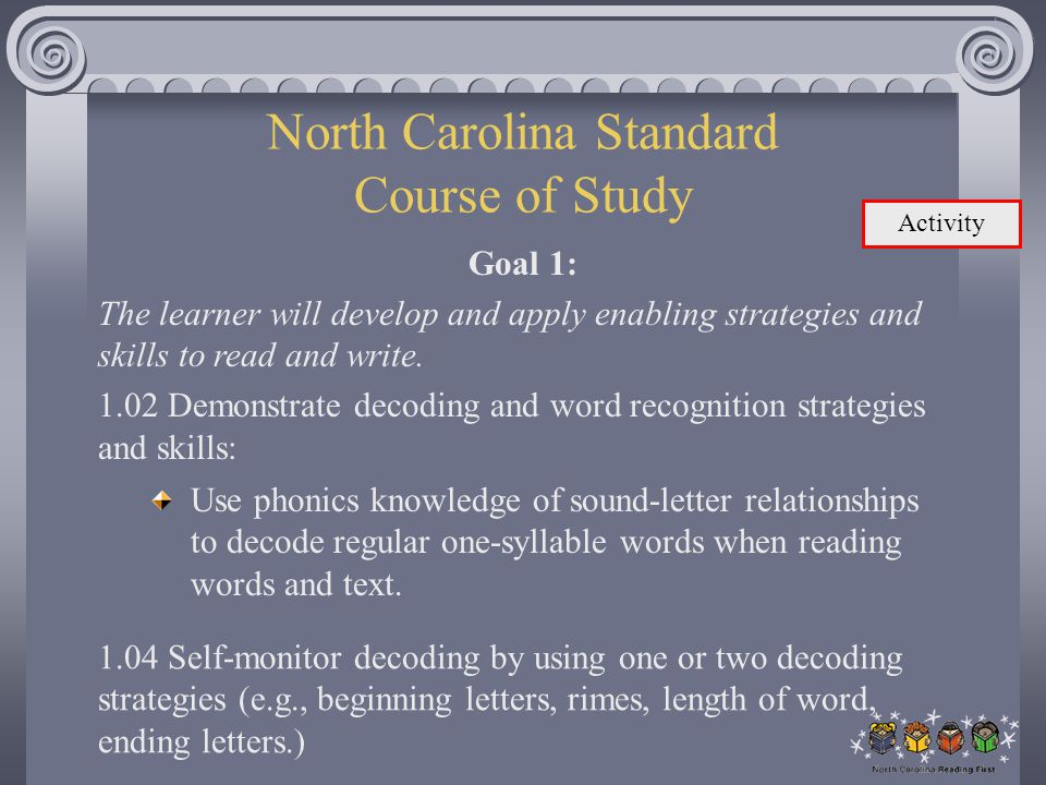 North Carolina Standard Course of Study