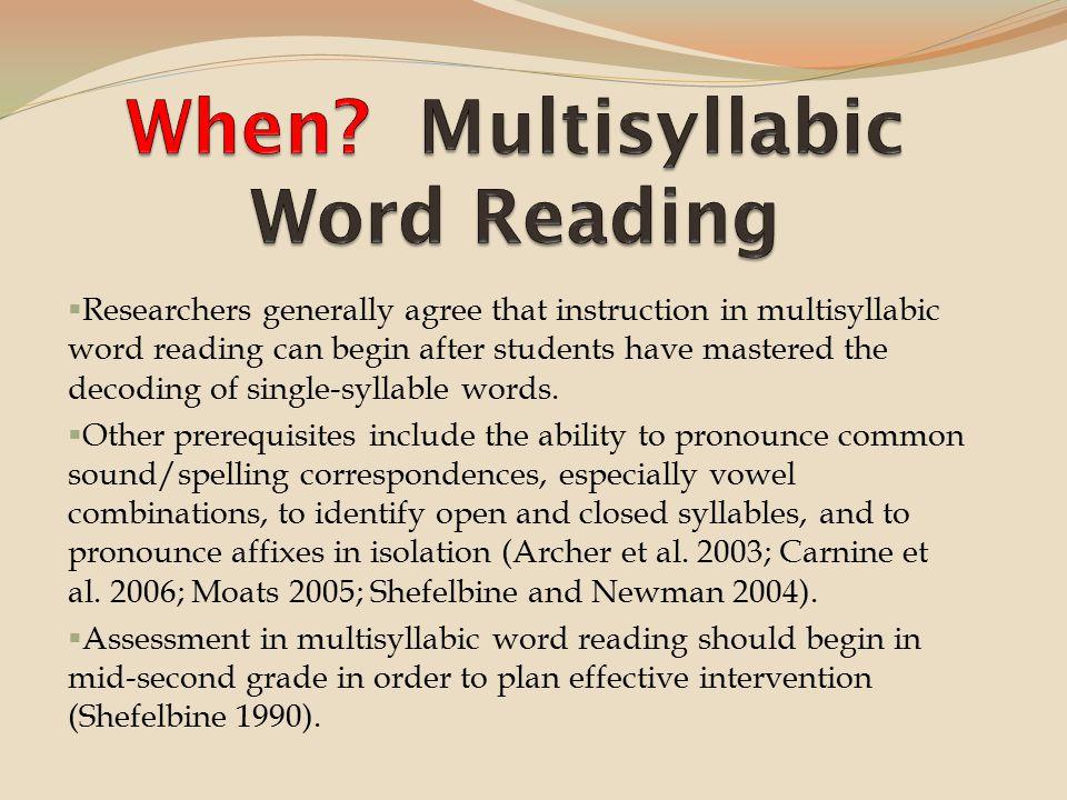 how to teach multisyllabic words