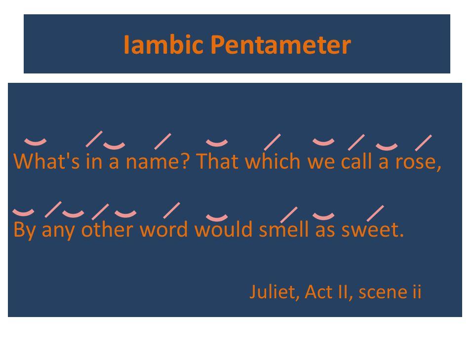Iambic Pentameter Shakespeares Style