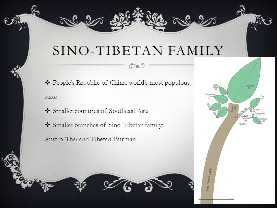 Sino-Tibetan Family People's Republic of China: world's most populous