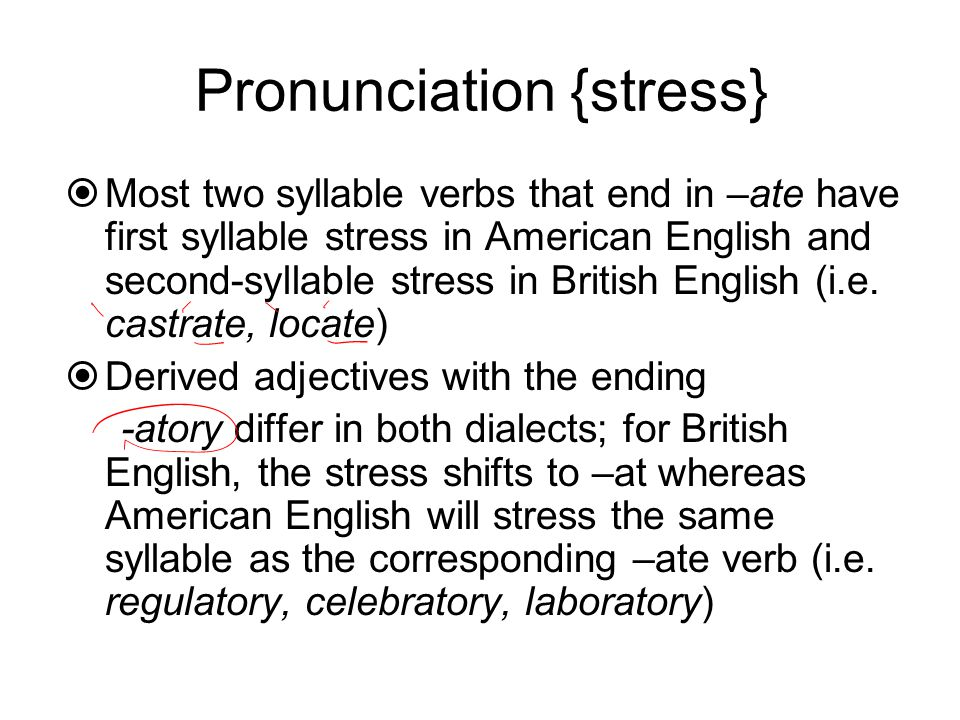The differences between American English & British English - ppt